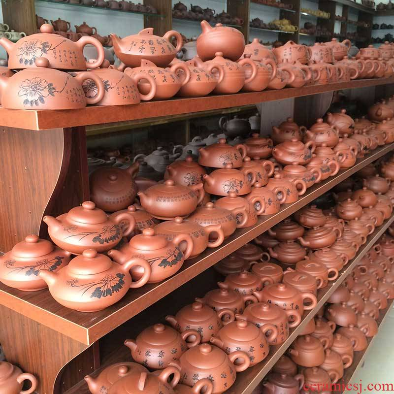 Yixing undressed ore it pure color manual big capacity home authentic zisha teapot tea teapot