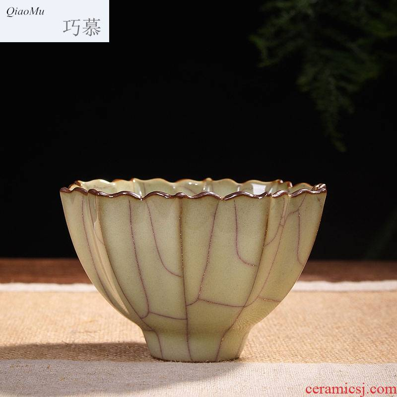 Most Qiao mu hand elder brother up with celadon kung fu tea cup gold wire sample tea cup imitation song dynasty style typeface five dynasties ancient jun