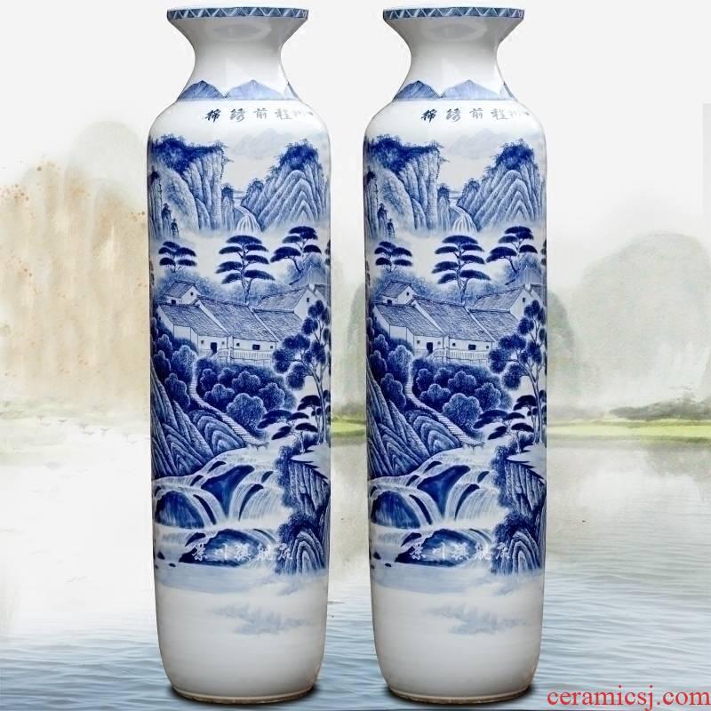 Jingdezhen porcelain ceramic hand - made figure of large vase bright future home sitting room hotel furnishing articles ornaments