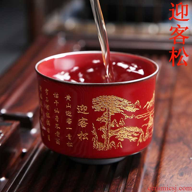 Ceramic cups single cup large coppering. As question one sample tea cup masters cup creative kung fu tea set heart sutra tea cups