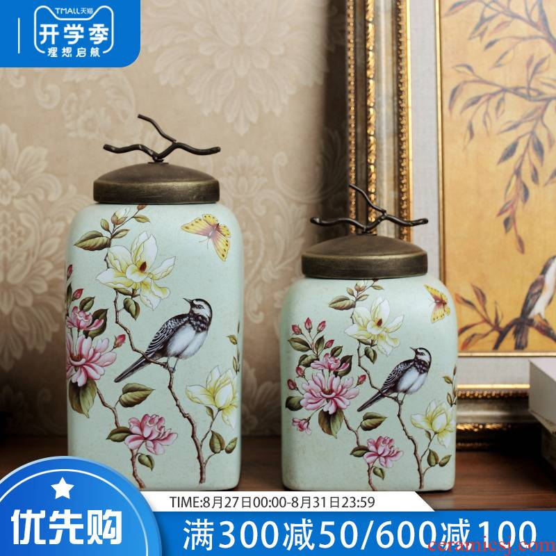 American TV ark, rural idyll ceramic home furnishing articles, the sitting room porch example room soft outfit decoration storage tank