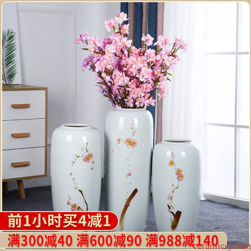 Jingdezhen ceramic hotel villa covers large vases, the sitting room porch flower flower decoration flower arranging furnishing articles