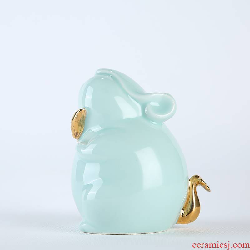 Zodiac mice ceramic mice furnishing articles furnishing articles household
