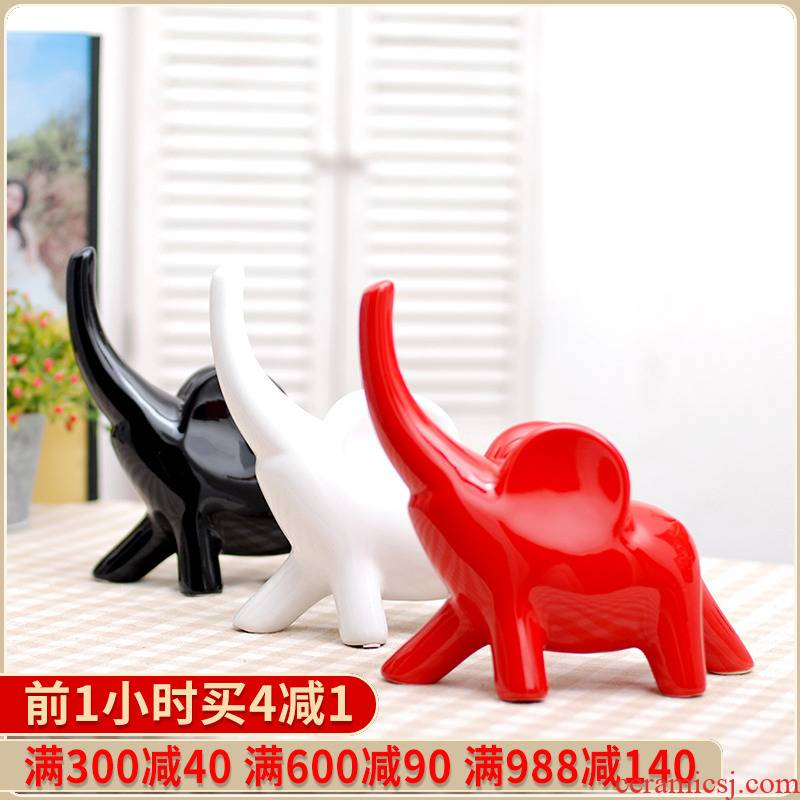Modern style home furnishing articles 018 new home decoration ceramic craft gift become warped nose like ornament