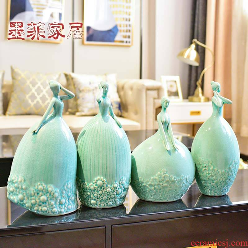 Modern girls heart ceramic furnishing articles household creative web celebrity room sitting room decorate a wedding gift decoration decoration