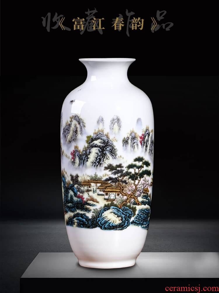 Jingdezhen vases, flower arranging new Chinese style living room home wine rich ancient frame TV ark adornment ceramics furnishing articles