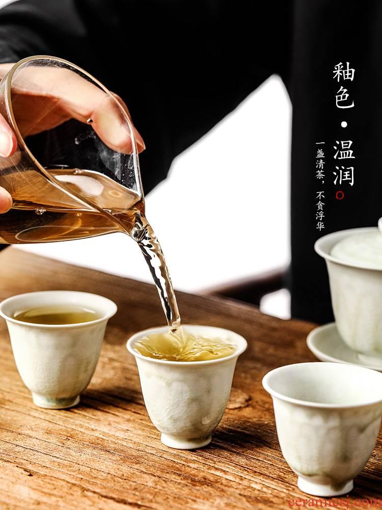 Tea master cup single CPU jingdezhen pure manual sample Tea cup single kunfu Tea Japanese Tea powder led ceramic, getting out