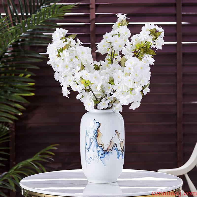 Contracted the Nordic light the key-2 luxury of jingdezhen ceramic vases, flower arranging dried flowers, TV ark, place of the sitting room porch household act the role ofing is tasted