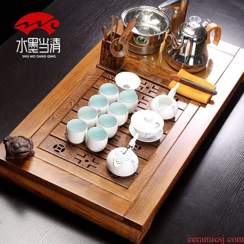 Kung fu tea cup ceramic tea machine of Chinese style restoring ancient ways tea set, tea art office four household contracted