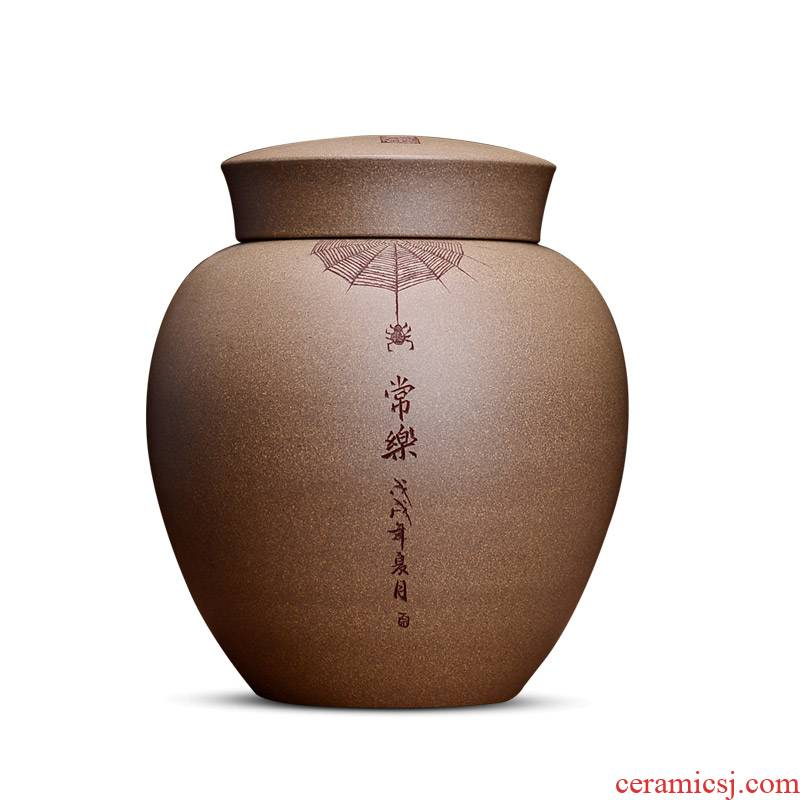 Shadow at yixing purple sand tea pot store receives no large carved by hand made POTS of HZ