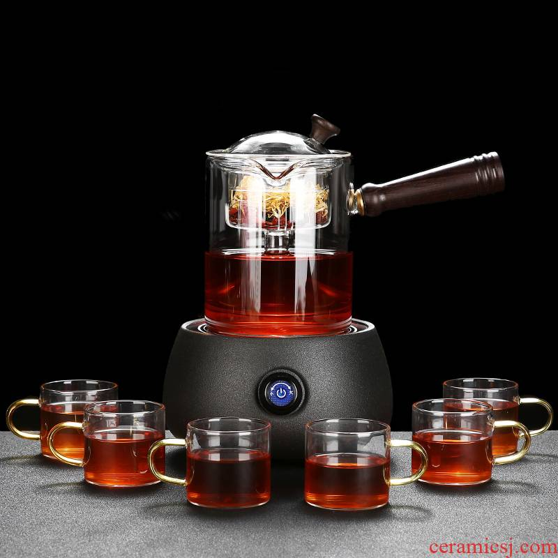 RenXin steam boiling tea ware suit glass teapot automatic boiling tea stove'm pot small TaoLu household electricity