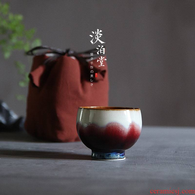 Poly real view jingdezhen up manually ruby red sample tea cup on master cup kung fu tea pottery Japanese tea cups