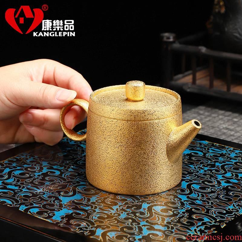 Recreational product teapot grind arenaceous gold ceramic teapot tea kungfu tea set 24 k gold teapot office