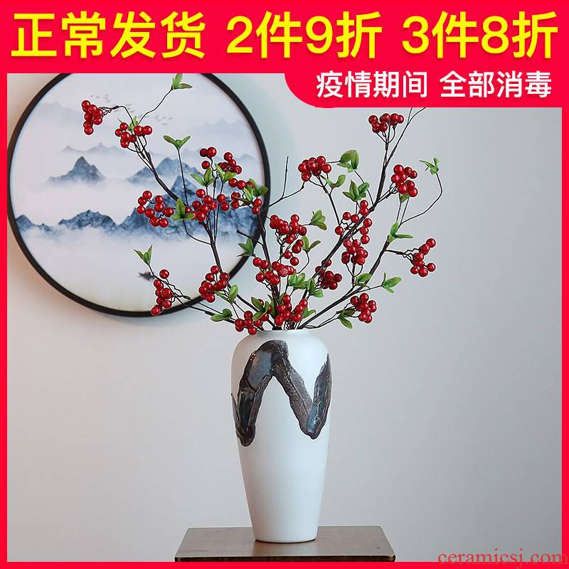 Jingdezhen ceramic vases, I and contracted sitting room light key-2 luxury furnishing articles furnishing articles dried flower adornment TV ark, study the porcelain