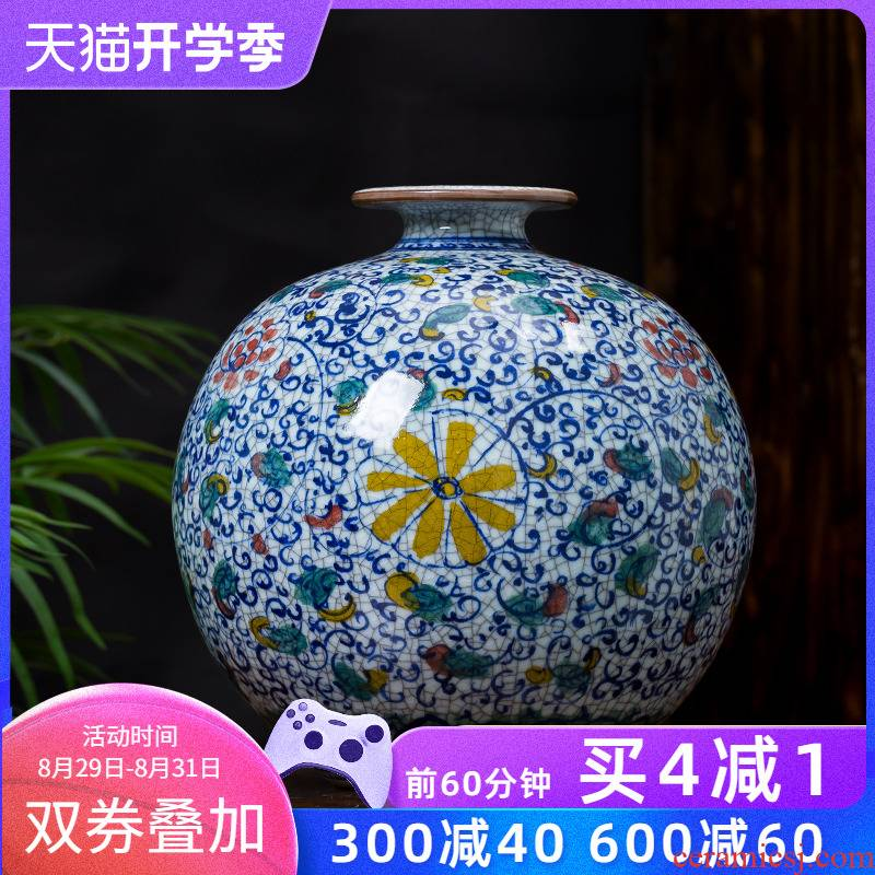 Jingdezhen ceramics up antique hand - made porcelain Chinese vase wine sitting room adornment is placed household act the role ofing is tasted