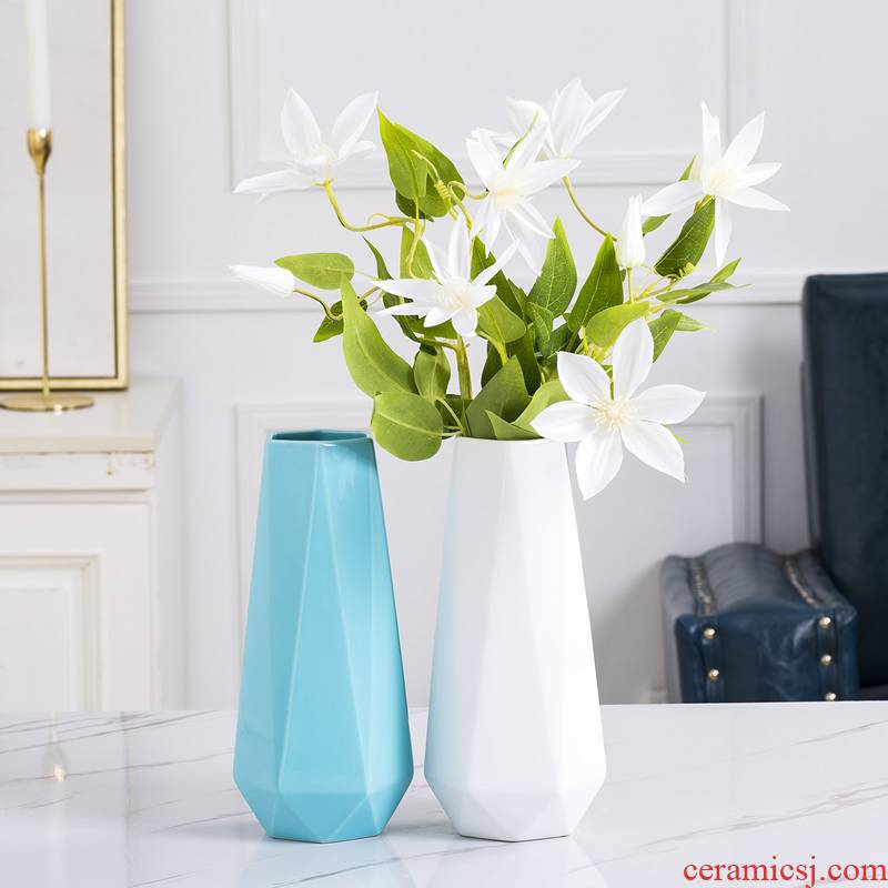 Ceramic vase furnishing articles the Nordic idea contracted sitting room ins dry flower adornment style table flower arranging water raise flowers