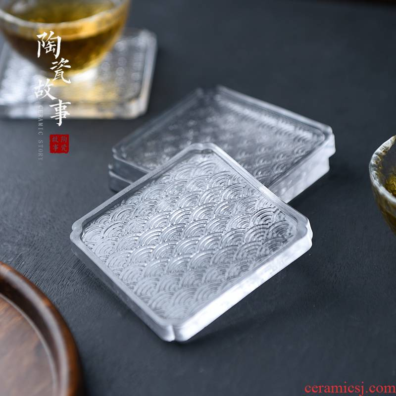 Story coasters home against hot insulation pad creative tea cups kung fu tea accessories