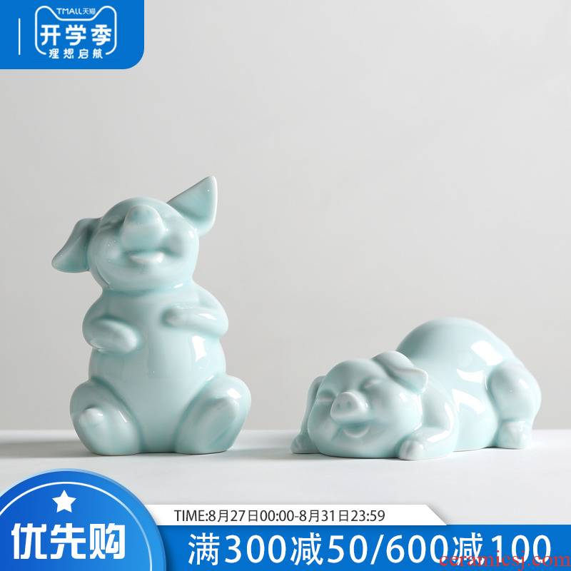 Ideas of modern Chinese style household act the role ofing is tasted furnishing articles sitting room ark, ceramic knick - knacks soft adornment wedding gift