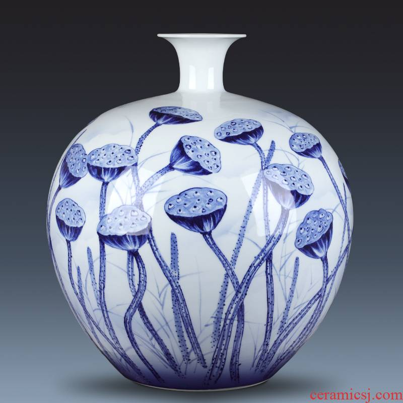 The Master of jingdezhen chinaware big vase hand - made fortune furnishing articles gifts club villa hotel