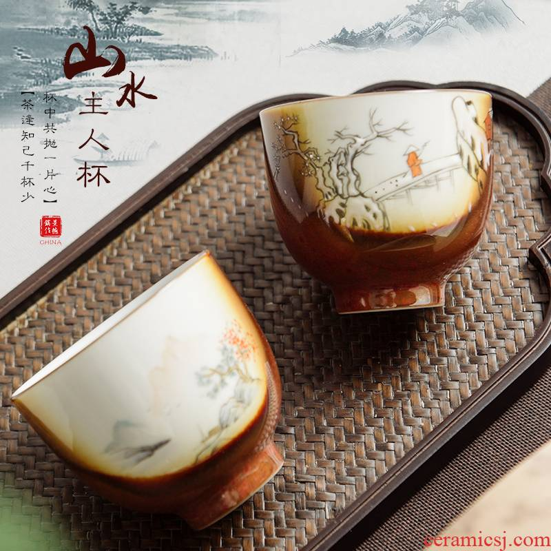Hand made pastel master cup of large single cup sample tea cup kung fu tea cups of jingdezhen ceramics up tea sets