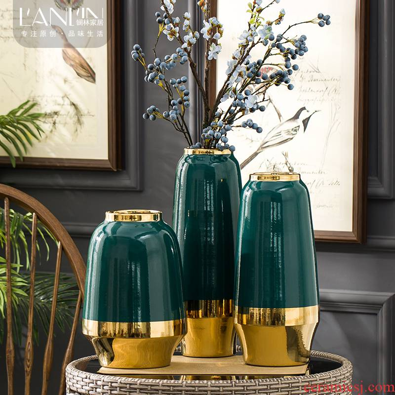 Ceramic vase continental dry flower arranging flowers is contracted and I sitting room TV ark, furnishing articles home wine porch is decorated