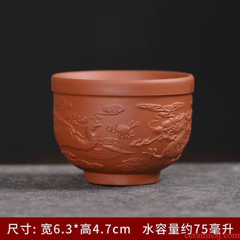 Violet arenaceous masters cup the size of the sample tea cup keller single pu - erh tea kungfu tea custom private individuals