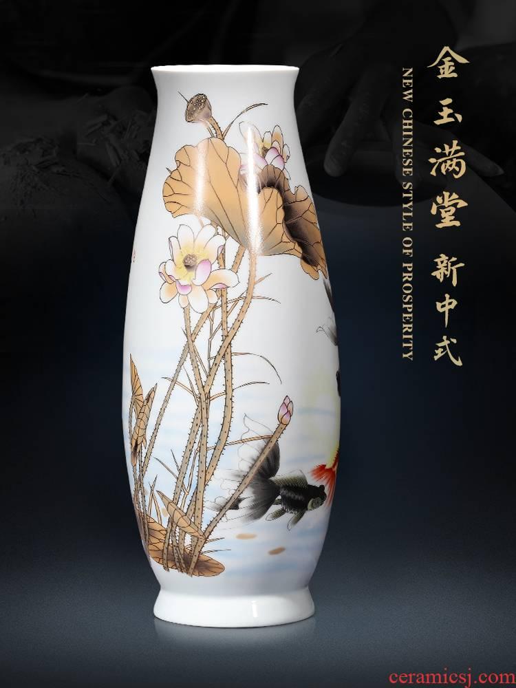 Jingdezhen ceramics Chinese vase furnishing articles sitting room home sitting room porch large TV ark adornment arranging flowers