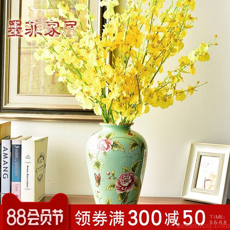 European ceramic vases, flower arranging American TV ark, wine restoring ancient ways furnishing articles, the sitting room porch simulation flower, dried flower decoration