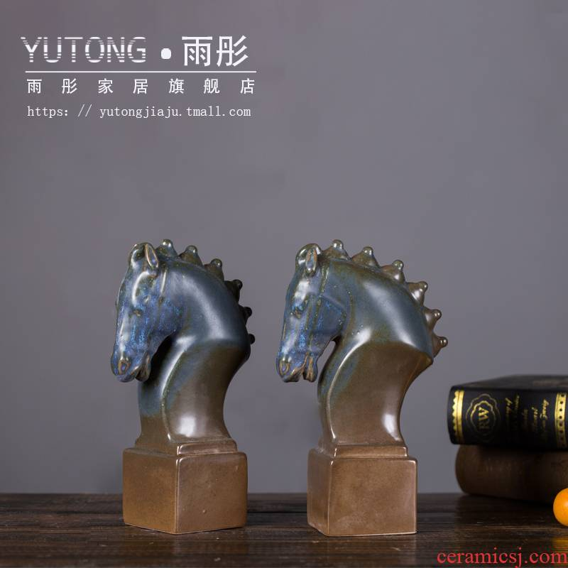 Ceramic horse furnishing articles office sitting room the opened the home decorative arts and crafts gift decoration