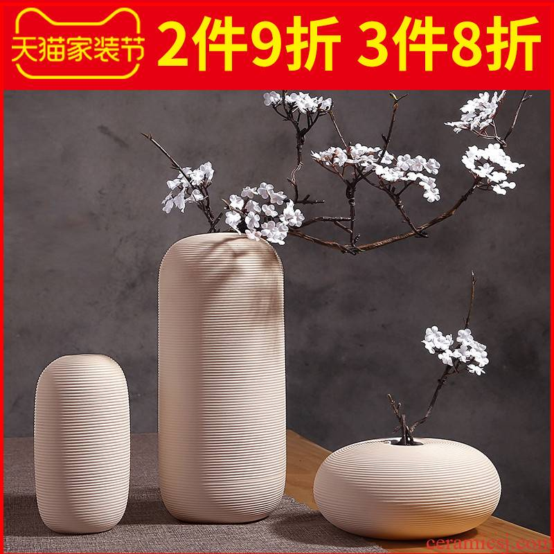 I and contracted white ceramic vases, the sitting room porch TV ark type dried flower arranging flowers furnishing articles home decoration