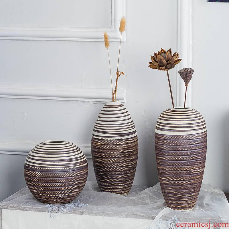 Jingdezhen ceramic vase manual flower arranging flower pot I and contracted home sitting room dry flower arranging flowers mesa furnishing articles