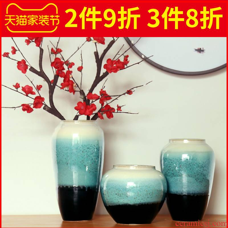 The New Chinese pottery and porcelain vases, dried flowers, flower arrangement table furnishing articles sitting room porch tea table table wine home decoration