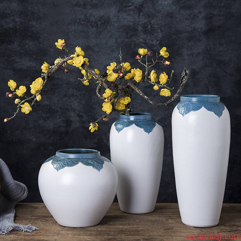 Vase furnishing articles dried flowers decorate the sitting room the Vase flower arranging small porcelain of jingdezhen ceramic POTS landing table northern Europe