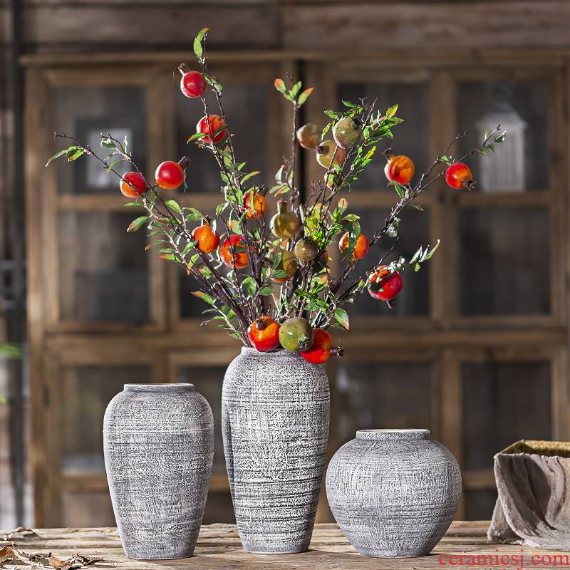 Jingdezhen ceramic vase restoring ancient ways furnishing articles creative table dry flower arranging flowers archaize sitting room do old pottery decoration