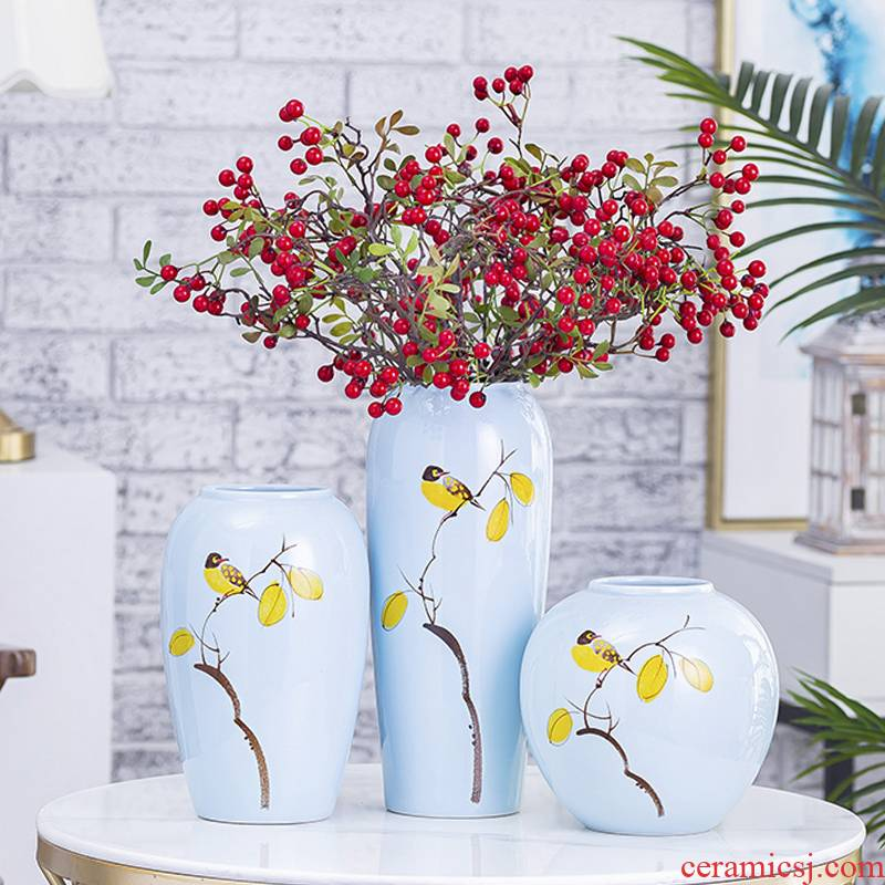 I and contracted jingdezhen ceramics vase household TV ark, porch place dry flower arranging flowers sitting room adornment