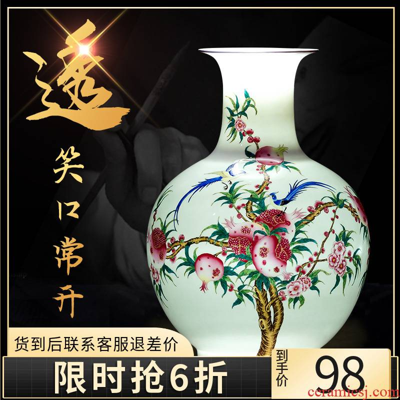 Porcelain of jingdezhen ceramics powder enamel primer vase Chinese style household act the role ofing is tasted the sitting room of flower arranging wine furnishing articles