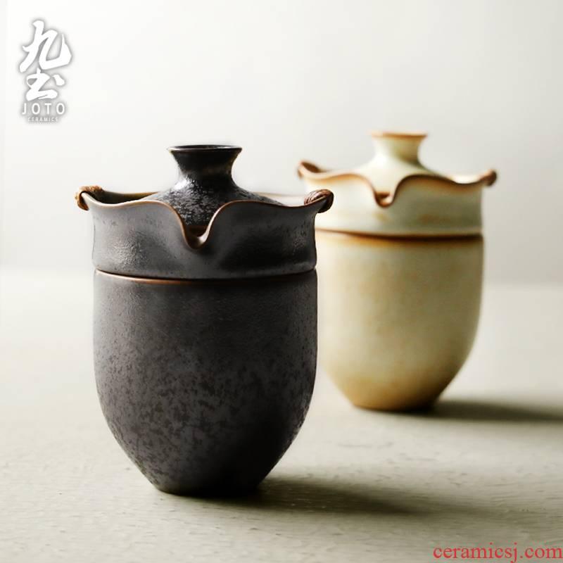 Japanese ceramics hand grasp nine soil pot set of a cup of tea pot set gift box tourism travel tea set tea cup group