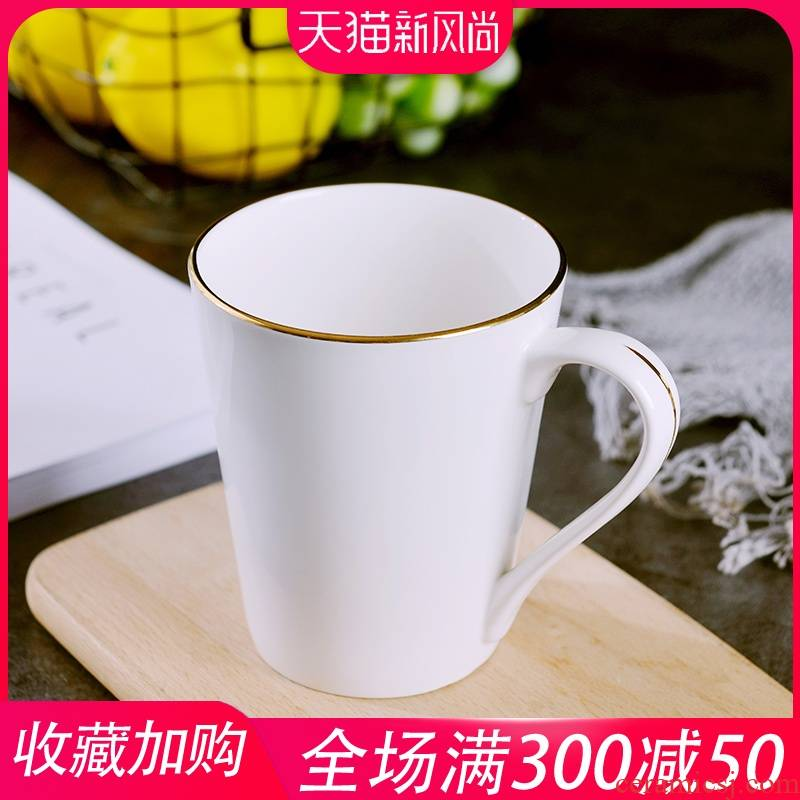 Creative ceramic cup move trend of household office keller European - style up phnom penh milk cup ipads China cups