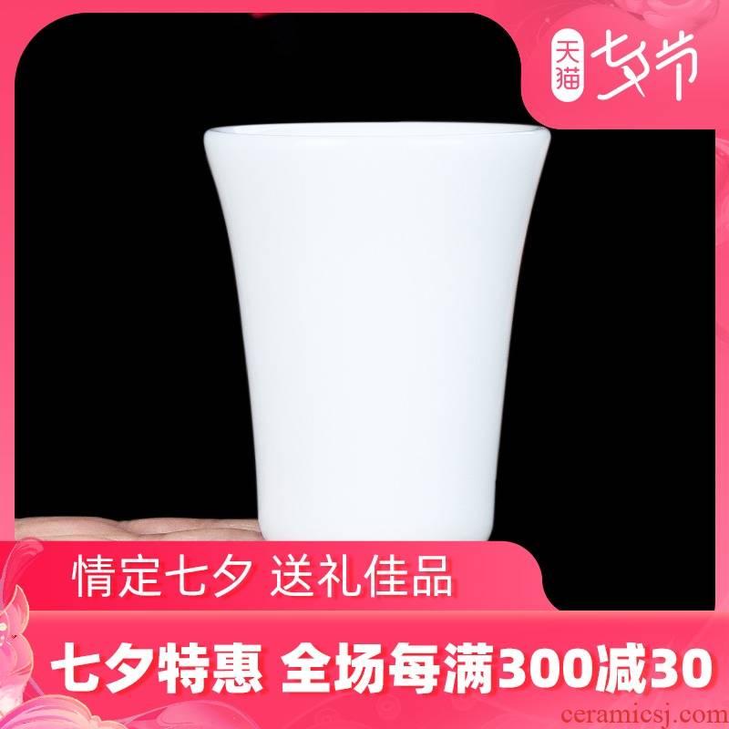 Jade master artisan fairy Xu Fukun dehua porcelain ceramic masters cup single sample tea cup cup manual household kung fu tea cups