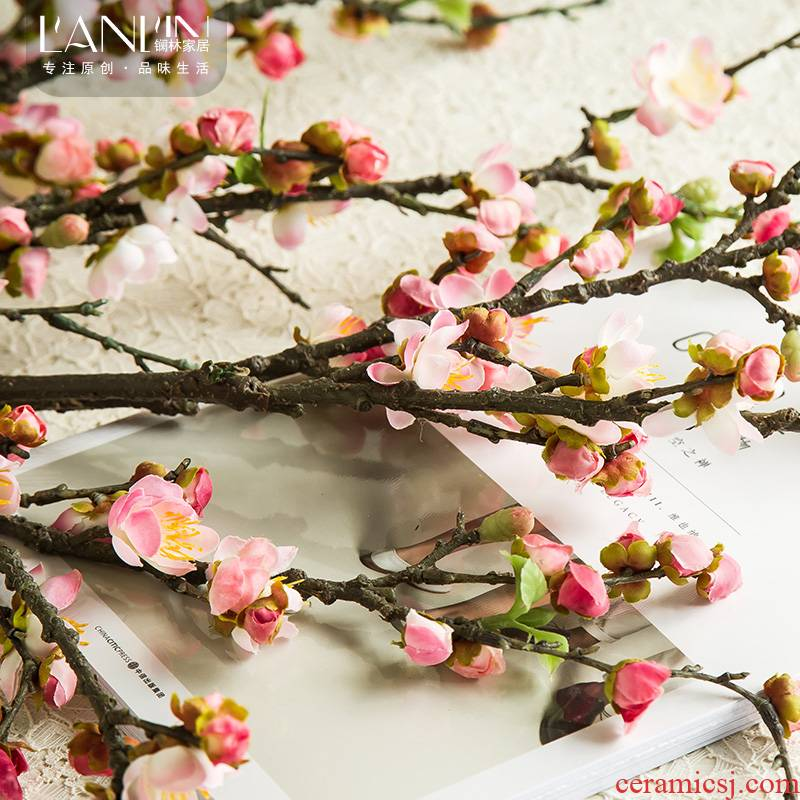 Simulation flower arranging flowers branches fake vase furnishing articles sitting room household dried flowers floral small pure and fresh and decorative ceramic decoration