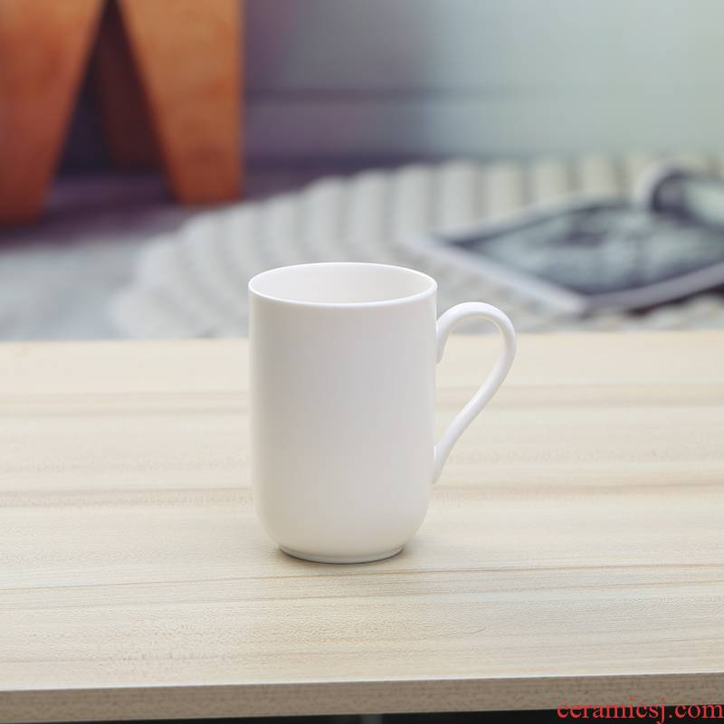 Ceramic cups cups with handle personal cup single glass matte enrolled white cup 250 ml of pure white mugs