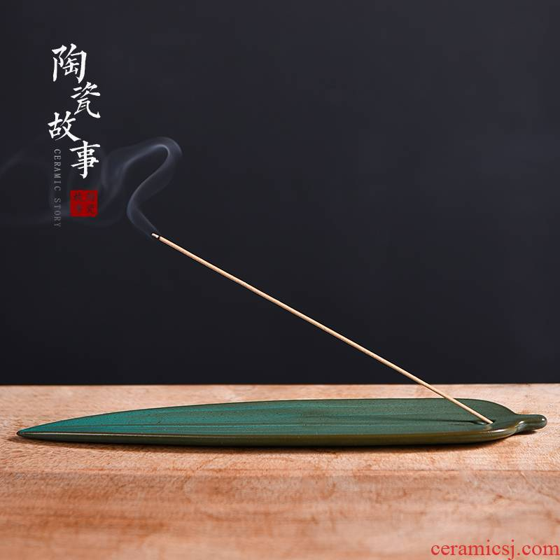 The Story of pottery and porcelain joss stick reed Ye Xiang plug-in base creative zen head incense kung fu tea tea accessories furnishing articles