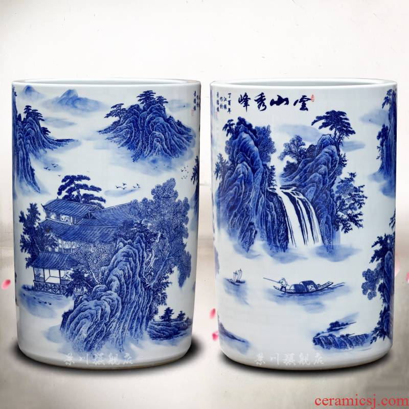 Jingdezhen porcelain ceramic mountains xiufeng quiver mesa of home sitting room place vases, calligraphy and painting scroll to receive goods