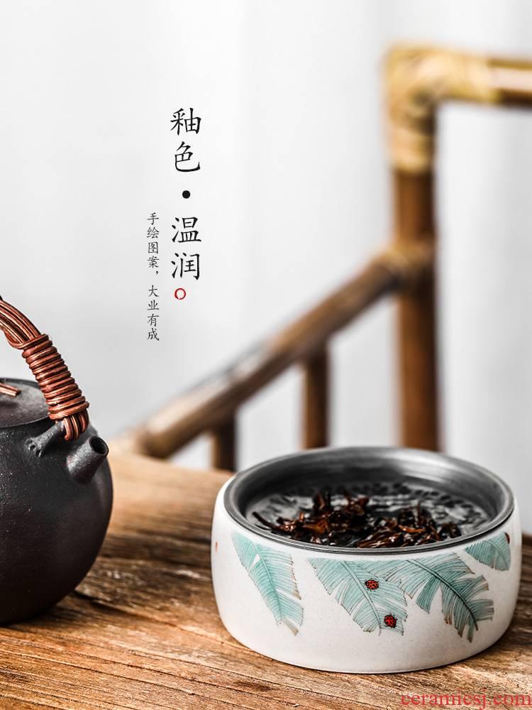 Plant ash glaze pot of bearing dry mercifully machine saving water bearing jingdezhen ceramic tea pure manual washing small built water tea tray