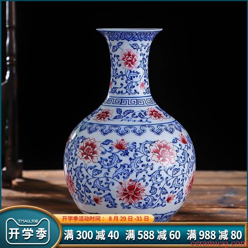 037 jingdezhen ceramic small frosted under glaze blue and white porcelain vase household adornment handicraft furnishing articles