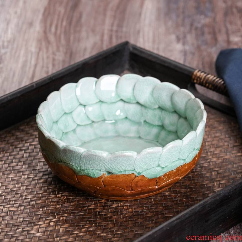 Jingdezhen creative move large ceramic ashtray fashion wind home office Chinese style restoring ancient ways is the ashtray