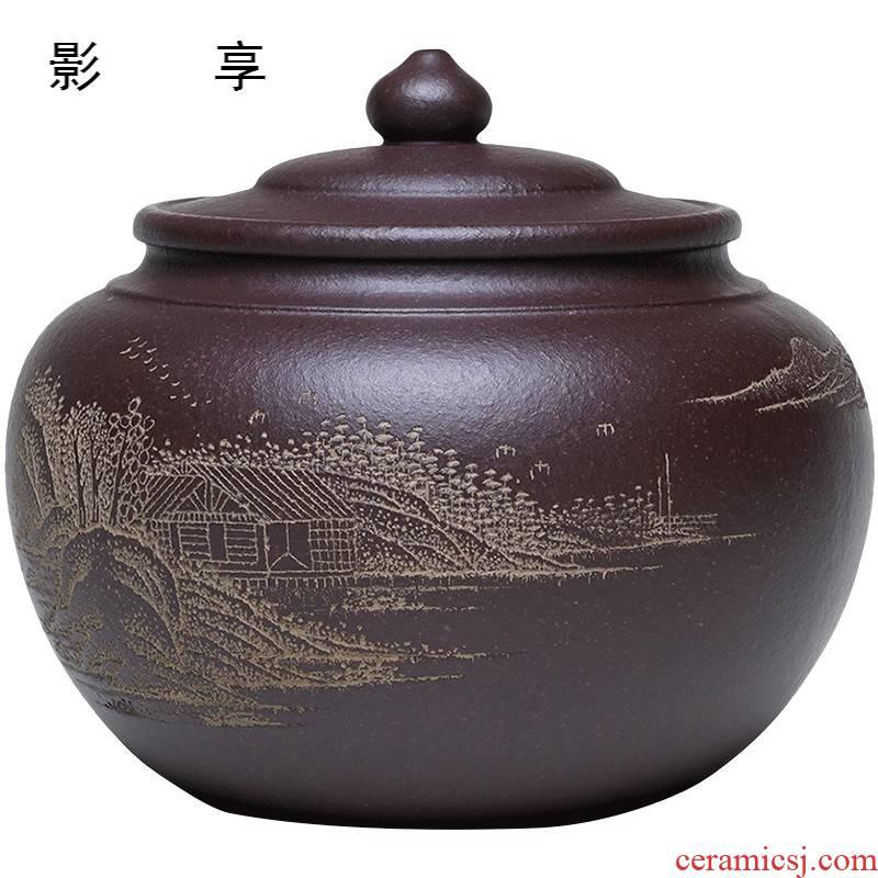 Shadow at yixing purple sand tea pot wake receives tea tea famous pu 'er Wu Jianli purple clay POTS Z