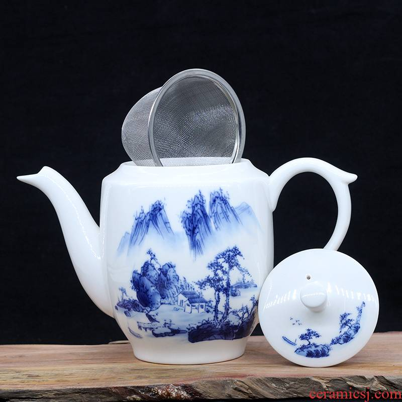 Jingdezhen ceramic teapot single pot of belt filter household kung fu tea set heat - resisting teapot high - capacity teapot