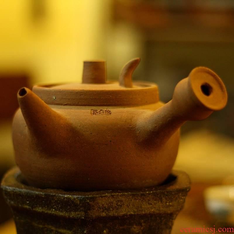 Also the purple sand pottery kung fu tea kettle Diao coarse pottery firewood chaoshan kunfu tea ancient TaoYang girder pot pot