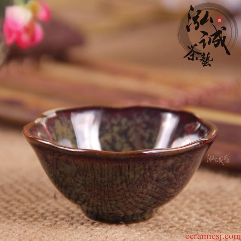 Japanese tea cups all over the sky star masterpieces small sample tea cup bowl lotus cup zen cup ceramic kung fu tea tea set